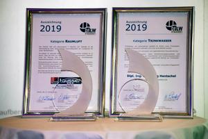 Der DFLW-Award wird in den Kategorien Raumluft und Trinkwasser verliehen.
