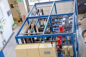 Klare Leistungsangaben, z.B. für Verflüssigungssätze oder Verkaufskühlmöbel, liefert der CO<sub>2</sub>-Prüfstand des TÜV Süd in Olching.