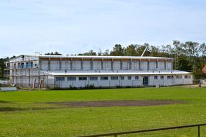 Die Vereinssporthalle befand sich 2018 noch im Rohbau.