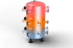 """Darstellung der verschiedenen Temperaturzonen im """"MultiFlow Center"""""""
