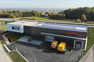 Die neue Weishaupt-Niederlassung Regensburg liegt in direkter Verkehrsanbindung zur Autobahn A93 und zur Bundesstraße B16.