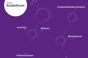 Neben einem umfangreichen Veranstaltungsprogramm mit Präsenzseminaren, Webinaren und eLearning-Angeboten bietet das KundenForum auch individuell auf den Kundenbedarf zugeschnittene Seminare an.