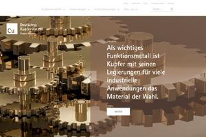 Die Webseite kupferinstitut.de wurde neu gestaltet.