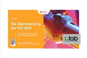 Am 14. Januar 2020 informierte Jürgen Bätz, Schulungsreferent bei Veolia, im Rahmen eines tab-Webinars zur VDI 2035.