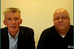 tab-Chefredakteur Christoph Brauneis (links) und Veolia-Schulungsreferent Jürgen Bätz während des Webinars