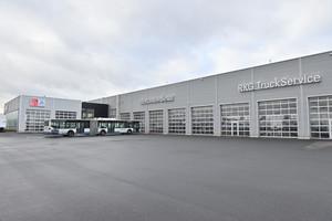 Der Truck- und Busspezialist RKG in Bornheim hat beim Neubau durchgängig auf Nachhaltigkeit gesetzt.