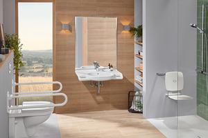 """Mit """"ViCare"""" definiert Villeroy & Boch einen Standard für seine Produkte zur barrierefreien Badgestaltung."""