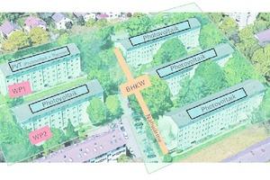 """<div class=""""Bildtitel"""">Neues Energiekonzept </div>des """"Smarten Quartier Durlach"""" mit Photovoltaik, zwei Wärmepumpen und einem BHKW mit Nahwärmeleitung."""
