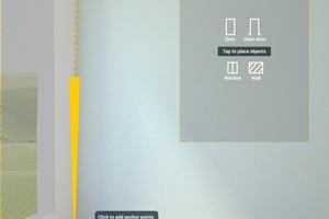 """Scannen eines Raumes und Einmessen der Punkte mit der """"Building AR""""-App"""
