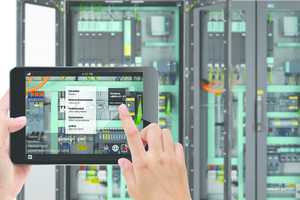 """3D-Ansichten der Komponenten lassen sich mit der App """"Cabinet AR"""" abrufen und drehen, vergrößern oder verkleinern."""