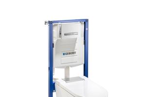 Die Montageelemente mit Unterputz-Spülkasten werden mit 400 kg Belastung geprüft und halten auch intensiven Beanspruchungen stand.
