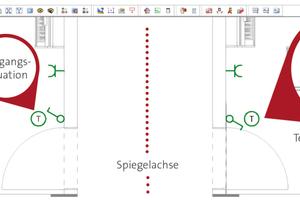 Die Spiegelfunktion stellt sicher, dass Symbole und Objekte selbst bei vielfacher Wiederholung des Spiegelvorgangs stets korrekt dargestellt werden.<br />