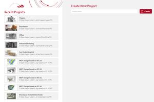 Über die neue DDS-CAD-Startseite können Projekte komfortabel geöffnet, gesucht oder angelegt werden.<br />