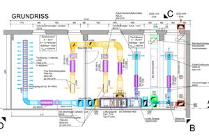 """Plan der Lüftungsanlage für das Modul """"Raumlufttechnische Systeme"""""""