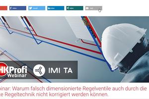 """tab und IMI TA laden am 19. Mai 2020 gemeinsam zum Webinar """"Warum falsch dimensionierte Regelventile auch durch die beste Regeltechnik nicht korrigiert werden können."""" ein."""