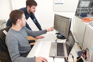 Moritz Schmieden (links) und Lukas Thomas haben ihr Studium abgeschlossen und ...