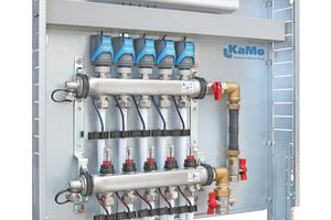 Die anschlussfertige Verteilerstation bietet einen vollautomatischen hydraulischen Abgleich.