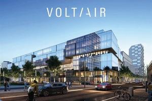 """Caverion rüstet die Premium-Immobilie """"VolTair"""" in Berlin-Mitte mit nachhaltiger Gebäudetechnik aus."""