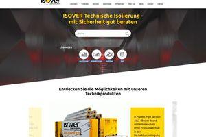 Der Bereich Technische Isolierung von Isover ist mit einer rundum neu gestalteten Website online.