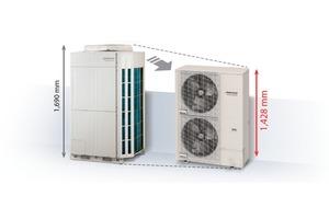 Für 50 kW Kälteleistung gibt es zwei VRF-Außeneinheiten von Fujitsu. <br />