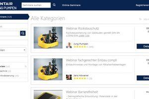 Die Online-Akademie von Jung Pumpen bietet aktuell Webinare an.