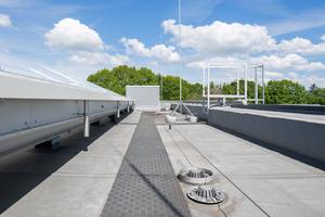 """Zweiteilige Flachdachabläufe """"ACO Spin"""" von ACO Haustechnik sorgen für die norm- und fachgerechte Ableitung des anfallenden Regen und Schmelzwassers."""