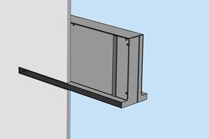 """Das Überströmelement """"Indusilent"""" Typ TG eignet sich für den Einbau in doppelt beplankte Ständerwände zum flächenbündigen Einbau. Zur Anpassung an andere Wandstärken ist für den Typ TG optional eine aufsteckbare Halsverlängerung verfügbar.<br />"""
