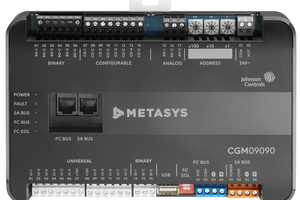 """Eine zeitgemäße Gebäudeautomations-Hardware wie der """"Application Controller Metasys CGM09090"""" ist flexibel einsetzbar, aber dennoch manipulationssicher."""