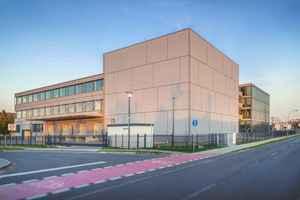Der neue Standort der Lunos Lüftungstechnik GmbH für Raumluftsysteme in Falkensee bietet u.a. Platz für die erweiterte Forschungs- und Entwicklungsabteilung.