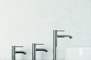 75, 100 bis 240 mm: Armaturen in drei Auslaufhöhen ermöglichen die optimale Lösung für jede Waschtischsituation.