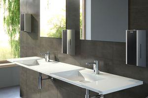 Franke Water Systems bietet Profis und Objektbetreibern berührungslos funktionierende Produktlösungen und hygienische Oberflächen für die Nutzung in stark frequentierten Wasch- und WC-Räume.<br />