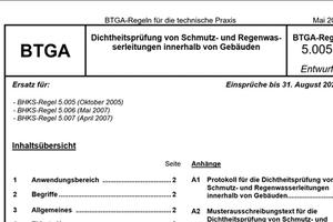 Deckblatt der überarbeiteten und ergänzten BTGA-Regel 5.005