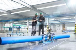 "Das Kunststoff-Rohrleitungssystem ""aquatherm blue pipe MF RP"" aus ""fusiolen PP-RCT."