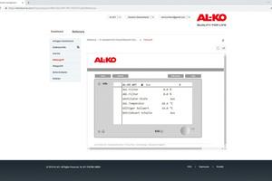 Mithilfe des AL-KO-Fernzugriffsportals ist immer und überall ein vollständiger Zugriff auf das zentrale Bediengerät der RLT-Anlage möglich.