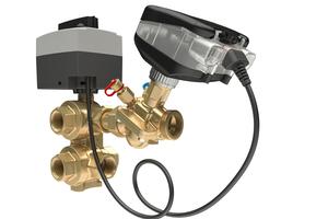"""Abgleich- und Regelventile sowie digitale Stellantriebe der Serien """"AB-QM"""" und """"NovoCon"""" unterstützen den dynamischen hydraulischen Abgleich ..."""