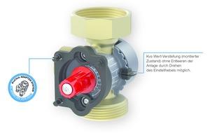 """Die Heizungspumpengruppe """"PrimoTherm 180-2 DN 25 KVS Vario"""" bietet neben einem werkzeuglos zu montierenden Stellmotor eine weitere Raffinesse: Ein 3-Wege-Mischventil mit jederzeit verstellbarem Kvs-Wert."""
