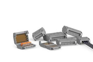 Die Gelbox schützt Verbindungsklemmen vor Feuchtigkeit gemäß IPX8.
