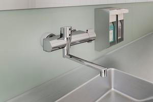 """Dank smarter, berührungsloser Bedienung sorgen die """"Hansaclinica""""-Thermostate für Hygiene, Sicherheit und Komfort."""