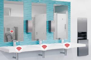 Elektronische Armaturen – einzeln oder vernetzt – stellen die Balance zwischen Hygiene und Wirtschaftlichkeit her und sorgen für einwandfreie Trinkwasserhygiene.<br />