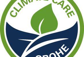"""<irspacing style=""""letter-spacing: -0.01em;"""">Mit dem """"Climate Care""""-Logo unterstreicht Grohe seine Ambitionen, klimafreundlich zu produzieren. </irspacing>"""