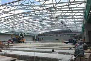 Die Hallen C5 und C6 des Münchener Messegeländes sind größer als ein Bundesliga-Fußballfeld und bieten jeweils rund 10.000 m² Ausstellungsfläche.