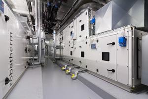 Kleinere Lüftungsanlagen wie diese bedienen z.B. die Konferenzräume und Gastronomiebereiche mit konditionierter Luft.