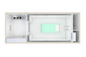 modular aufgebaute und mobile Intensivpflegestation (ICU)