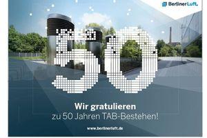 Glückwünsche zum tab-Jubiläum haben uns auch von der Berliner.Luft erreicht.