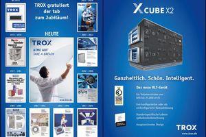 Die Entwicklung der Werbeformate in der Lüftungstechnik wird von Trox anschaulich präsentiert.