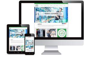 Die Website der aquatherm GmbH bietet dank ihres responsiven Designs auf dem Computer-Monitor, Tablet und Smartphone eine gleichbleibende Benutzerfreundlichkeit.