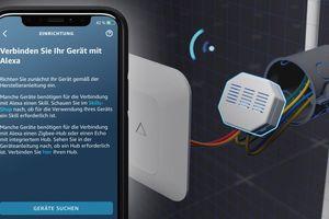 """Die Verknüpfung mit anderen """"Smart Home""""-Geräten ist über die Amazon-""""Alexa""""-App möglich.<br />"""
