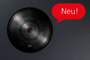 Die kleine Kuppel der Kamera 180 mit mattschwarzem Ring wirkt dezent. Gleichzeitig bietet sie leistungsstarke Technik mit extragroßem Erfassungswinkel.