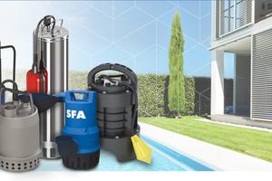 SFA Sanibroy hat sein Sortiment um Tauch- und Brunnenpumpen erweitert.