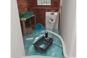 """Die mobile Tauchpumpe """"Sanisub Steel"""" mit Schwimmersteuerung und robustem Edelstahlgehäuse ist für die Notfallentwässerung konzipiert.<br />"""